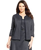 Jones New York Collection Open-Front Cardigan Suit