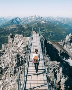 The most adventurous hikes in Austria - Do you want a new adventure? Hiking Photography, Europe, New Adventures, Outdoor Travel, Vacation Spots, Catwalks, Adventure Travel, Places To See, Traveling By Yourself