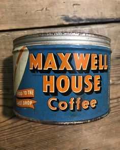 Vintage coffee tin Coffee Tin, Vintage Coffee, The Last Drop, Antiques, Shop, Antiquities, Antique, Coffee Mug, Vintage Coffee Shops