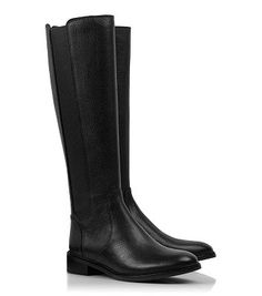 The best black leather riding boots from Tory Burch