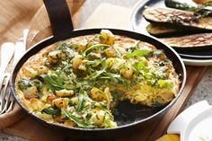Leek, potato & lemon thyme frittata