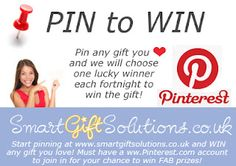 To win ANY gift you love from our Pinboards, simply pin it to your own Pinboard! We will announce the winners right here on the Pin to Win board, with pictures of their prizes! Get Pinning...