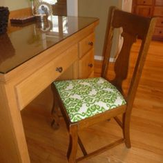 A reupholstered antique dining chair!  HG Design
