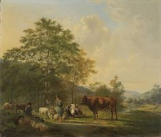 Hilly Landscape with Shepherd, Drover and Cattle | Pieter Gerardus van Os | 1815 - 1839 | Rijksmuseum | Public Domain Marked