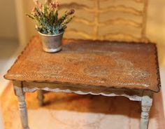 This is the old table that I originally made for Petit Brocante when it was still a part of my miniature dreams, and not yet a web s...