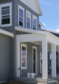 White House Exterior Paint Color Name en 2020 Casas exteriores grises Pinturas de casas Pinturas de casas exterior