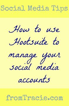 How to use Hootsuite to manage your social media accounts, schedule tweets and other updates, and keep yourself organized.