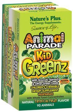 Natures Plus Free Animal Parade KidGreenz Children's Chewables Tropical Fruit Flavor Sample - US