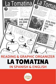 Check out this reading and graphic organizer resource for teaching your students about La Tomatina festival in Spain! Both the reading sections and the graphic organizers are included in Spanish and English! Click the link to see more! Spanish Teacher, Spanish Classroom, Teaching Spanish, Class Activities, Reading Activities, Classroom Activities, Spanish Lesson Plans, Spanish Lessons, Spanish 1