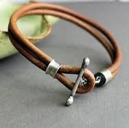 diy mens leather bracelet - Google Search