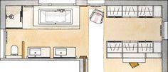 Un baño abierto al dormitorio y al vestidor · ElMueble.com · Cocinas y baños