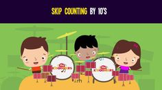 Skip Counting by 10s song for Kindergarteners.  #kidsmusic #countby10