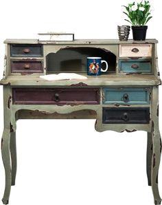 Sekretär Schreibtisch Arbeitstisch Computertisch Vintage Neu KARE Design