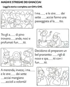 Ghi ghe Pre School, Back To School, Italian Verbs, Italian Lessons, Montessori Math, Reading Worksheets, Picture Story, Italian Language, Learning Italian
