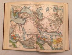 STIELER'S SCHUL-ATLAS 1901 Antique Book of Maps Pre WWI World MAP Color vtg    eBay