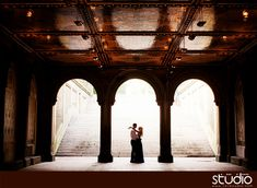 Bethesda Terrace under passage engagement photos | New York City engagement pictures and ideas by www.1314studio.com