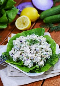 The Kitchen is My Playground: Tzatziki Chicken Salad {aka: Cucumber & Greek Yogurt Chicken Salad}