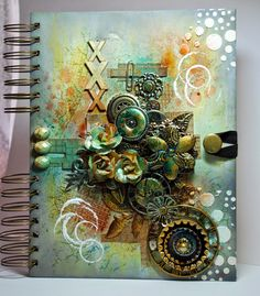 Eileen's Crafty Zone: Journal Cover... Finnabair Style!