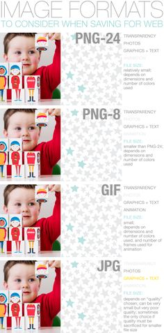 Image Formats to consider when saving for web