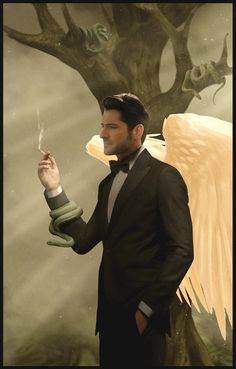 Lucifer Comic (before) by Mitashade on DeviantArt Lucifer S2, Lucifer Wings, Tom Ellis Lucifer, Yoda Images, Films Netflix, Celebrity Drawings, Marvel Comic Universe, American Gods, Morning Star