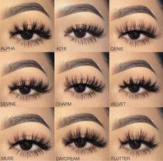 Eyelashes styles - Eye Makeup tips Makeup Goals, Makeup Inspo, Makeup Tips, Beauty Makeup, Makeup Inspiration, Makeup Ideas, Makeup Hacks, Makeup Products, Fake Lashes