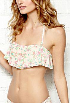 Floral Flounce Bikini Top | FOREVER 21 - 2000140271