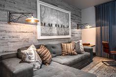 Adhesive Wood Paneling: Pretty for Interior Wall — Reddish Home Ideas Teen Lounge, Stick On Wood Wall, Wood Wall Design, Diy Casa, Pallet Walls, Wood Panel Walls, Wood Paneling, Bedroom Wall, Master Bedroom