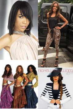 """#Transformation Tuesday: Who's having a hot week? It's Destiny's Child's Michelle Williams with her new single out called """"Fire!"""" Check out her #hair transformation over the years!  Loving her long locks and#beautiful #fishtail #braid? Check out our Virgin Straight hair that we carry all the way to 30""""!"""