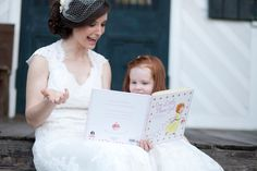 I read the flower girl a book about being a flower girl to cool the nerves (hers and mine) and do something we loooove to do together :) Something To Do, Shabby Chic, Flower Girl Dresses, Wedding Dresses, Book, Fashion, Bride Dresses, Moda, Bridal Gowns