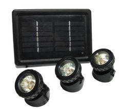EasyPro SOL3P Underwater Pond 3-Pack Solar Light Kit by Easy Pro Pond Products, us lawn and garden, EBRFK. $103.86. This super bright 3-pack solar lighting kit includes, underwater led light and solar panel with battery. Photocell in panel automatically turns lights on at dusk. Can easily light up flag poles, signs, waterfalls, up-tree lighting, comes with a 20-feet power cord. This 3 pack solar light kit includes underwater LED light and solar panel with battery. Testing ...