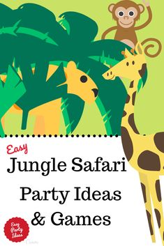 Grrr! Snarl!! Fantastic ideas for a jungle safari party or zoo kids party theme. Games, decorations and more! Ideas include invitations, decorations, games, food, cakes and party favors! | Easy Party Ideas and Games #junglesafariparty #zooparty #animal party #partyideas #easypartyideas