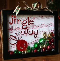 Jingle Box - easy, and it uses up extra supplies from past projects!