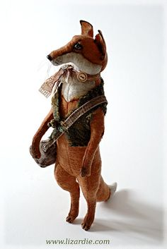 By Lizardie Toys...must try to make a handsome fox like this guy.  <3