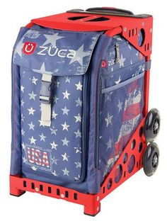 Zuca Sport Bag - GO USA with Red Frame   Red, white and blue We hold are feelings true Honor you in every right As you fly high in beautiful skies...   https://figureskatingstore.com/zuca-bags/ #figureskating #figureskatingstore #figureskates #skating #skater #figureskater #zucabag #zuca #zucabags #zuca #backpack #zucabackpack #iceskatebag #skatebags #ice #skatingbag #zucastore #zucabackpacks #zucaskatebag