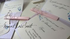 Partecipazione invito modello Volo Lieve - Wedding invitation woth butterflies Gift Wrapping, Gifts, Gift Wrapping Paper, Presents, Wrapping Gifts, Favors, Gift Packaging, Gift
