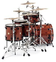 DW Cocobolo drums set