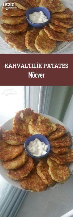 Kahvaltılik Patates Mücver Breakfast Items, Best Breakfast, Breakfast Recipes, Good Food, Yummy Food, Food Porn, Turkish Recipes, International Recipes, Easy Meals