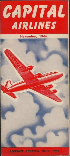 vintage airline timetable for Capital Airlines