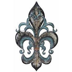 Cerise Fleur-de-Lis Metal Wall Sculpture - Fleur De Lis & French. I like the shape of this one :)