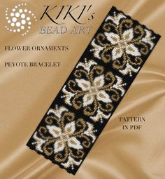 Peyote Pattern for bracelet Flower ornaments peyote bracelet