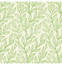 Green leaves pattern vector - by Artspace on VectorStock®