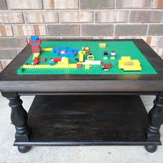 LEGO Table from an Old End Table {DIY}