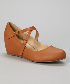 Another great find on #zulily! Tan Bobby Strappy Hidden Wedge #zulilyfinds