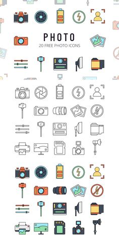Before you Photo Free Vector Icon Set. For example, in applications, web design, posters, Web Design Icon, Design Ios, Web Design Tips, Web Design Company, Logo Design, Flat Design, Mini Drawings, Easy Drawings, Icon Set