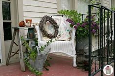 **Add a railing to the front porch on one side