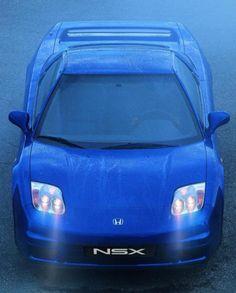 Espectacular Honda NSX...qué bellísimo contraste de azules...
