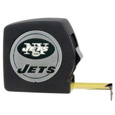 NFL Chrome Tape Measure  http://allstarsportsfan.com/product/nfl-chrome-tape-measure/?attribute_pa_teamname=new-york-jets  25′ tape measure with belt clip Thumb lock and release mechanism Decorated with high-quality metal team logo