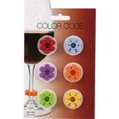 Marcadores de Taça em Silicone Flor Para taças de Vinho e Espumante!! #vinho