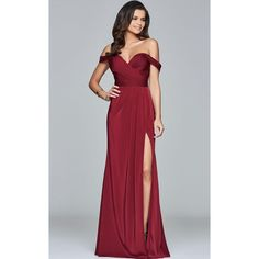 Faviana 8083 Special Occasions Long Strapless Sleeveless (£250) ❤ liked on Polyvore featuring dresses, gowns, bridal party dresses, wine, long formal dresses, evening dresses, strapless evening dresses, formal gowns and off the shoulder evening dress