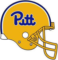 Pittsburgh Panthers Helmet Logo on Chris Creamer's Sports Logos Page - SportsLogos. A virtual museum of sports logos, uniforms and historical items. Pitt Panthers, Pittsburgh Sports, University Of Pittsburgh, Panther Logo, Helmet Logo, Word Mark Logo, College Football, Sports Logos